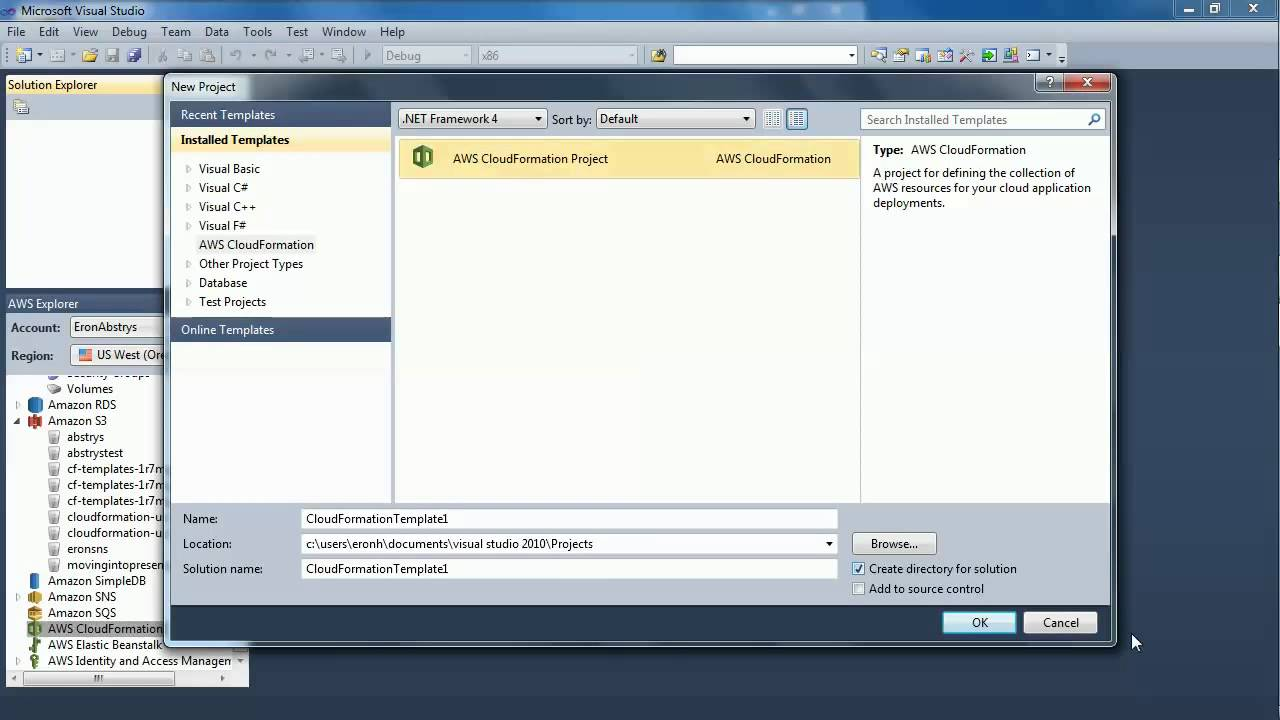 AWS CloudFormation Editor for Visual Studio Introduction