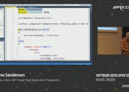 Blazor .NET Single Page Application Framework