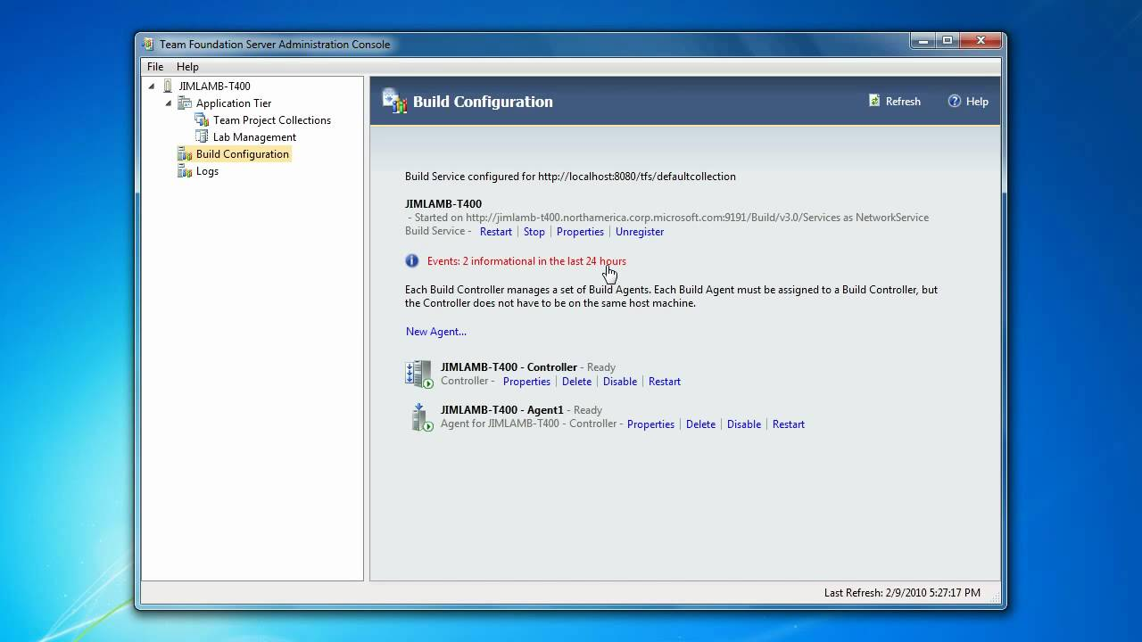 Configuring TFS 2010 Build Services