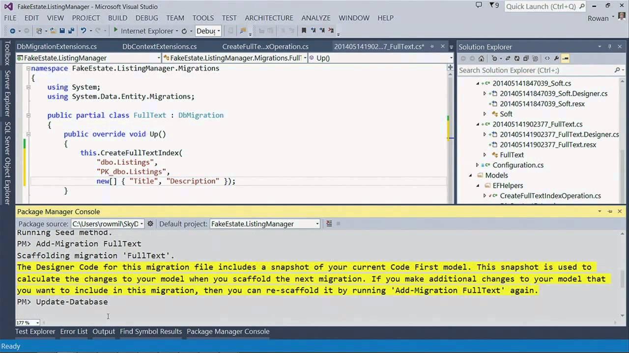 Entity Framework: Building Applications with Entity Framework 6