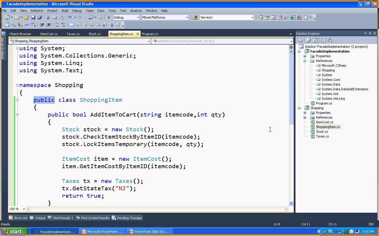 Facade Design Pattern in C#