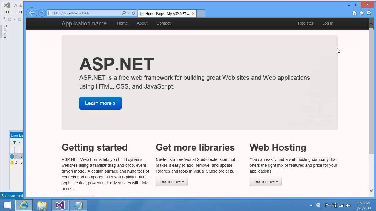 One ASP.NET: A New Unified Project System for Web Developers