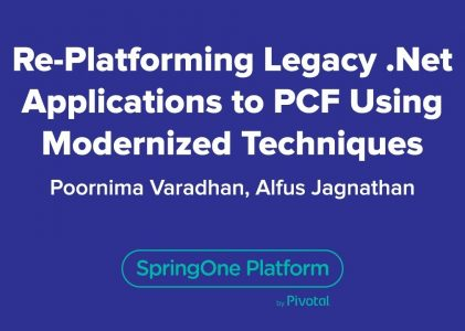 Re-platforming Legacy .NET Applications to Cloud Foundry