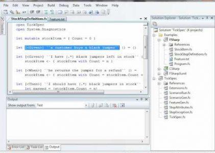TickSpec: An F# BDD Framework